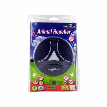 weitech pest ultrasonic animal repeller in verpakking ultrasone marter verjager